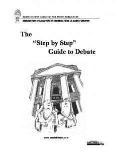 The Step by Step Guide to Debate