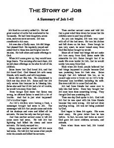 The Story of Job A Summary of Job 1-42