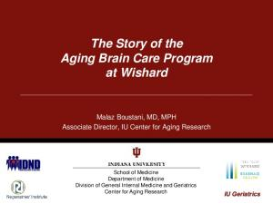 The Story of the Aging Brain Care Program at Wishard
