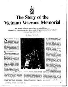 The Story of the Vietnam Veterans Memorial