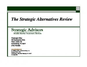 The Strategic Alternatives Review