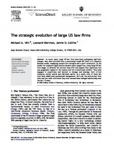 The strategic evolution of large US law firms