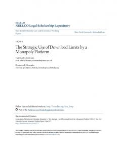 The Strategic Use of Download Limits by a Monopoly Platform