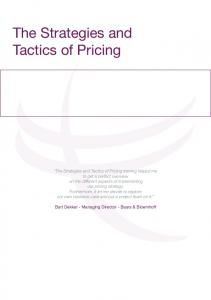 The Strategies and Tactics of Pricing