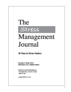 The Stress Management Journal