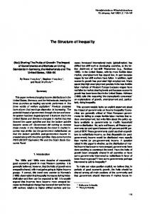 The Structure of Inequality