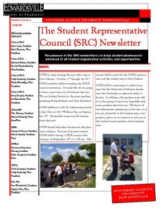 The Student Representative Council (SRC) Newsletter