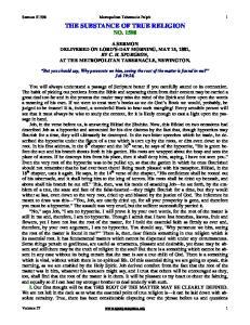 THE SUBSTANCE OF TRUE RELIGION NO. 1598