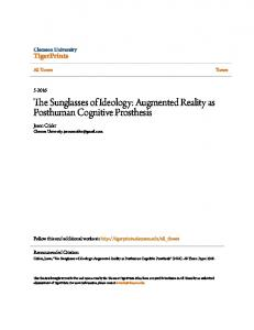 The Sunglasses of Ideology: Augmented Reality as Posthuman Cognitive Prosthesis