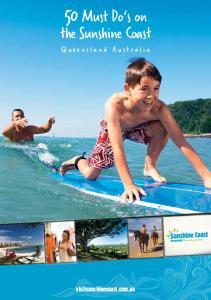 the Sunshine Coast Queensland Australia visitsunshinecoast.com.au