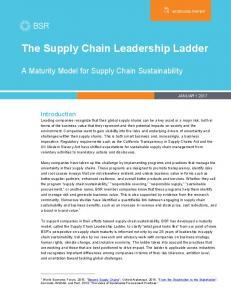 The Supply Chain Leadership Ladder