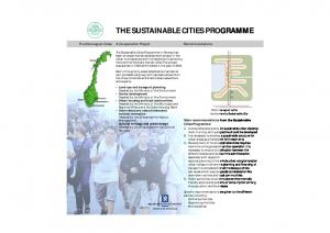 THE SUSTAINABLE CITIES PROGRAMME