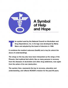 The symbol used by the National Council on Alcoholism and
