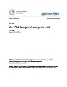 The TANF Emergency Contingency Fund