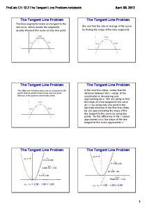 The Tangent Line Problem. The Tangent Line Problem. The Tangent Line Problem. The Tangent Line Problem. The Tangent Line Problem