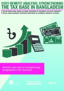 THE TAX BASE IN BANGLADESH