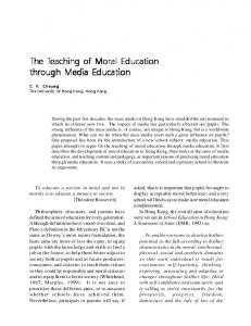 The Teaching of Moral Education through Media Education