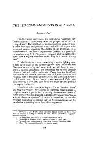 THE TEN COMMANDMENTS IN ALABAMA