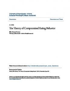 The Theory of Compromised Eating Behavior