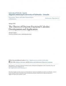 The Theory of Discrete Fractional Calculus: Development and Application