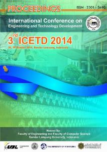 The Third International Conference On Engineering And Technology Development
