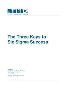 The Three Keys to Six Sigma Success
