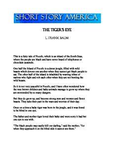 the tiger s eye l. frank baum