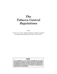 The Tobacco Control Regulations
