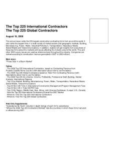 The Top 225 International Contractors The Top 225 Global Contractors