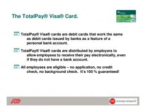 The TotalPay Visa Card