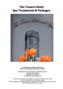 The Towers Hotel Spa Treatments & Packages