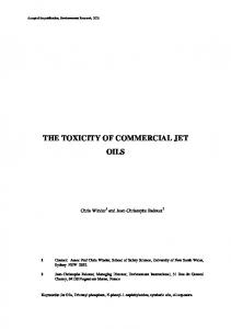 THE TOXICITY OF COMMERCIAL JET OILS