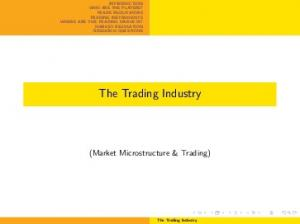 The Trading Industry