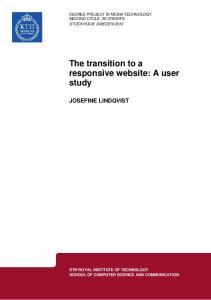 The transition to a responsive website: A user study