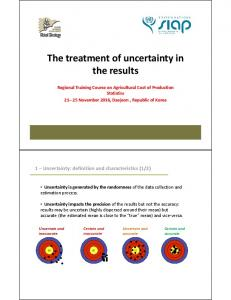 The treatment of uncertainty in the results