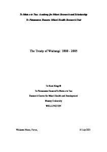 The Treaty of Waitangi: