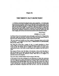 THE TRINITY: FACT OR FICTION?