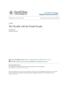 The Trouble with the Death Penalty