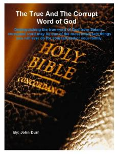The True and The Corrupt Word of God AmericasComingJudgment.com
