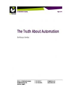 The Truth About Automation