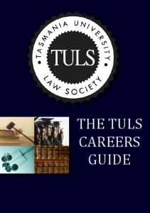 THE TULS CAREERS GUIDE