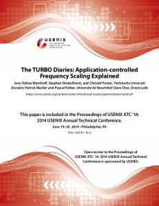 The TURBO Diaries: Application-controlled Frequency Scaling Explained