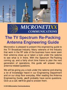 The TV Spectrum Re-Packing Antenna Engineering Guide