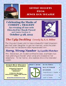 The Ugly Duckling Comedy by A.A. Milne