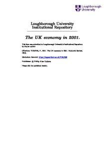 The UK economy in 2001