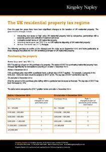 The UK residential property tax regime