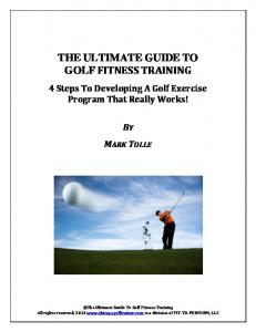 THE ULTIMATE GUIDE TO GOLF FITNESS TRAINING