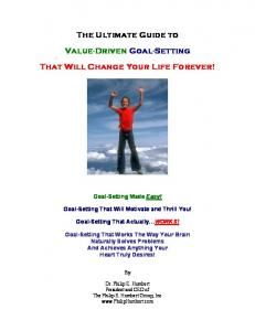 The Ultimate Guide to Value-Driven Goal-Setting That Will Change Your Life Forever!