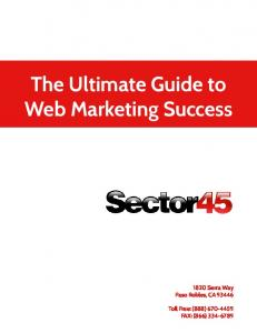 The Ultimate Guide to Web Marketing Success
