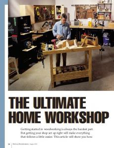 THE ULTIMATE HOME WORKSHOP